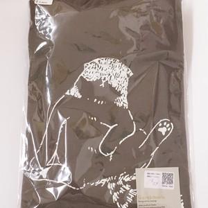 ねこ Tシャツ Lサイズ  36-6  チャコール