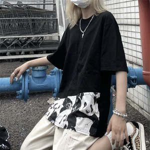 【トップス】カジュアル半袖ラウンドネックプルオーバーTシャツ45446816