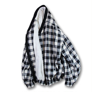 Cocoon sleeve blouson [Block check]