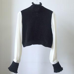 【予約】YUKISHIMANE bishop sleeve knit top