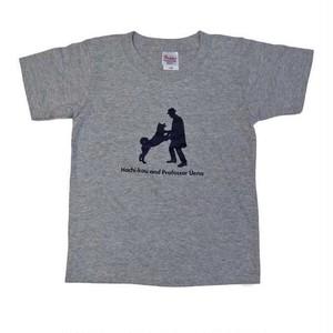 ハチ公 子供Tシャツ グレー