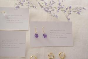 amethyst fook&earring