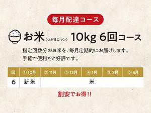 【C】お米(つがるロマン)10kg 6回コース