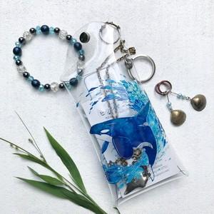 Blue World Children_orca blue design〈ミニクリアマルチケース〉