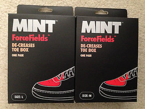 履きシワ防止アイテムMINT FORCE FIELDS DECREASES TOE BOX