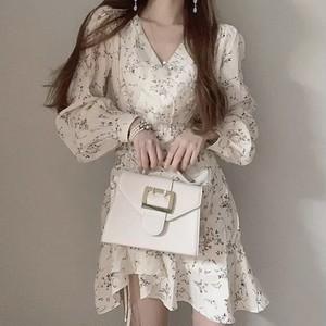 asymme frill dress 2color