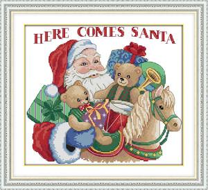 【小物】クリスマスプレゼントDIYクロスステッチ 24664158