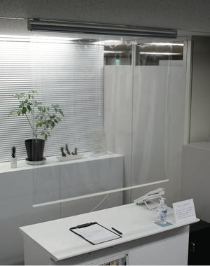 【幅60】ウィルス対策・飛沫感染防止に、透明ロールスクリーンが新発売!