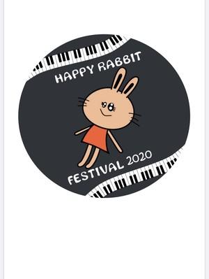 HAPPY RABBIT FESTIVAL 2020 記念缶バッチ