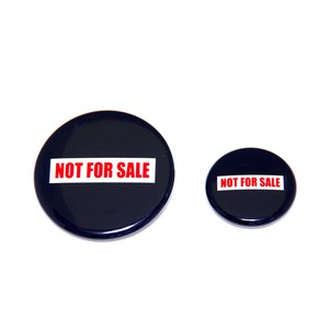 NOT FOR SALE 缶バッジ SET