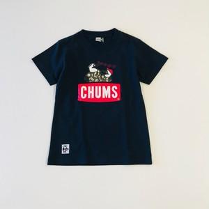 WEB限定オリジナル キッズNEST焼津×CHUMS魚河岸親子Booby T-Shirt ネイビー
