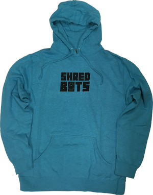 SHREDBOTS LOGO PULLOVER -TURQUOISE HEATHER-