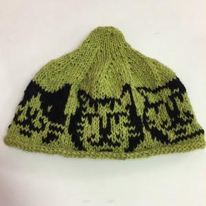 ゑでぃの手編みニット帽 ハチワレ、トラ、ブチ猫