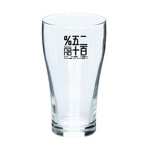 """ビアグラス【田中郁后作「SURVIVE in the 250%」ロゴ】420ml(ロゴカラー黒)  Beer glass [Ikuko Tanaka's """"SURVIVE in the 250%"""" logo ] 420 ml (logo color black)"""