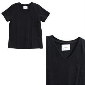manon レディースVネック半袖Tシャツ MNN-C-002