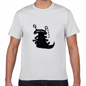 さまざまなモンスターTシャツ(泣いてるヤツ) 白