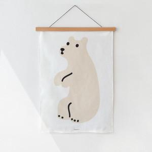 huggy bear fabric poster / シロクマ ファブリックポスター 韓国雑貨 北欧
