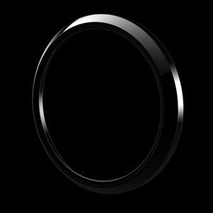 グリルバッジホルダー交換用リング(黒)