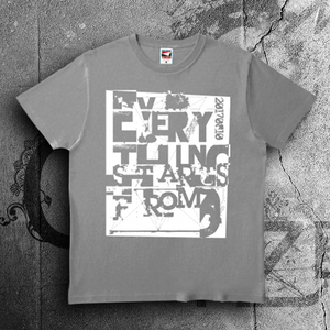 Everything Starts From 0 Tシャツ GRAY