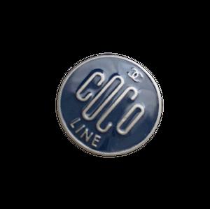 【VINTAGE CHANEL BUTTON】 ネイビー  COCOロゴ ボタン 20㎝ C-21050