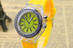 カラフル腕時計(黄)