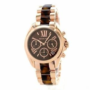 正規品 Michael Kors マイケルコース BRADSHAW ブラッドショー 腕時計 レディース MK5944 ブラウン ステンレス べっ甲 クロノグラフ