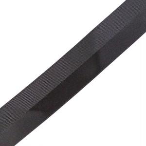 サテン グログラン ハーフパターン リボン 38mm ブラック 2m