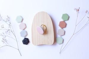 333伝統文化品美濃焼多治見丸タイル指輪・リング(フリーサイズ)