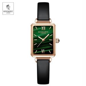 グリーンマラカイト日本クォーツムーブメント高品質レディース腕時計 女性ステンレス鋼メッシュローズゴールド腕時計4011PH