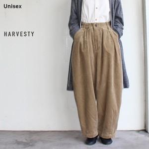 HARVESTY コーデュロイサーカスパンツ CORDUROY CIRCUS PANTS A11716 (BEIGE)