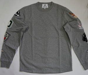 PATCH L/SL Tee  (GRAY)