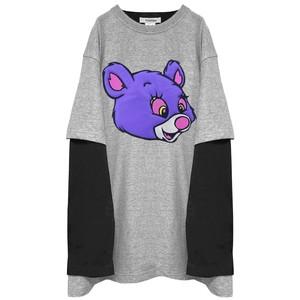 PSYCHO BEAR  Docking LongT-shirt GRAY