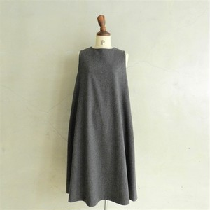 STAMP AND DIARY No sleeve flare dresss(gray)
