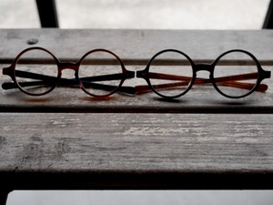 HYKE / T-ROUND / OPTICAL-GLASSES (BK×AMB / AMB×BK)