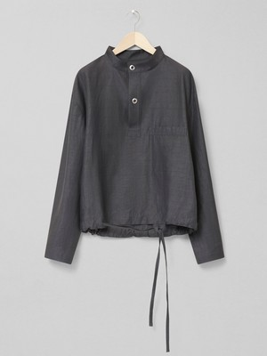 LEMAIRE SMOCK TOP 930 DARK STONE GREY M 211 TO125 LF548