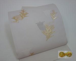 ☆91030☆未使用品 袋帯 葉模様 夏物 絽地 西陣織