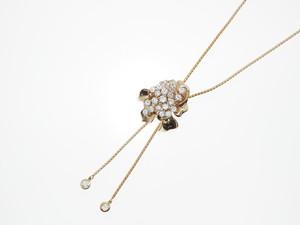 【K18PG】2.30ct UP ダイヤモンドネックレス