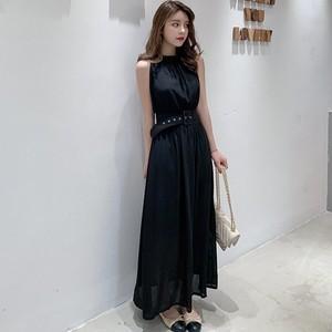 【dress】シンプルで素敵カジュアルノースリーブワンピース