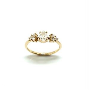 pairshape oldcut dia ring - 0.454ct/G/SI2