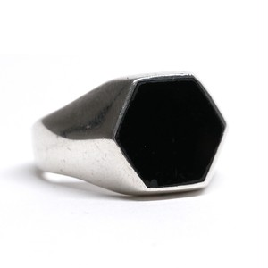Vintage Mexican Onyx & Silver Ring