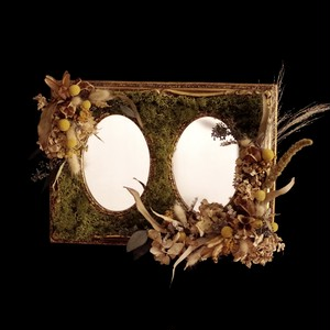 Dried flower mirror vintage Ⅲ