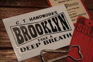 【受注製作】( S )『BROOKLYN』Black - Cutting Sticker