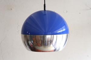 70年代 旧西ドイツ製 Blue pendant lamp ペンダントライト シーリングランプ