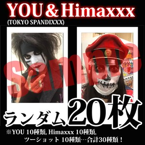 【チェキ・ランダム20枚】YOU&Himaxxx(TOKYO SPANDIXXX)