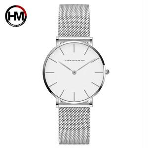 クォーツムーブメント防水ブルーレディース腕時計ステンレス鋼バンドシンプルなデザインのクラシック腕時計女性CB36WYY
