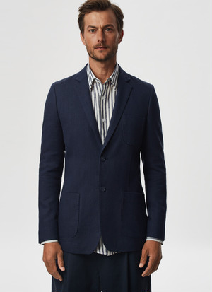 WASHED LINEN BLAZER