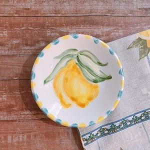 マヨリカ焼き 丸皿(小) レモン