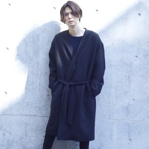 YOSHITAKA EZAKI × Enharmonic  TAVERN Dress Work Gown - Black  < LSD-AH3C2 >