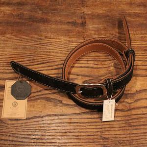 Velor Leather Strap / Black