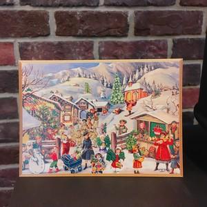 Richard Sellmer Verlag社 クリスマスカード クリスマスマーケット ドイツ製 ポストカード 封筒付 リチャード・セルマー CD-001
